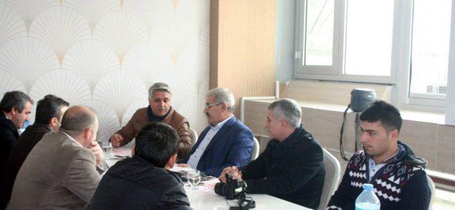 Akıncılar Belediye Başkanı Çetinkaya,Kahta Gazeteciler Cemiyetiyle Yemekte Buluştu