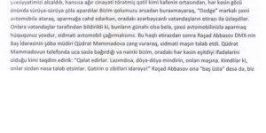 AZERBAYCAN'DA BULUNAN İŞ ADAMI UĞUR ÖZATEŞ MAĞDURİYETİNİ CUMHURBAŞKANI ALİYEVE ŞİKAYET ETTİ
