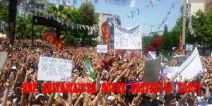 HDP ADIYAMAN'DA GÖVDE GÖSTERİSİ YAPTI