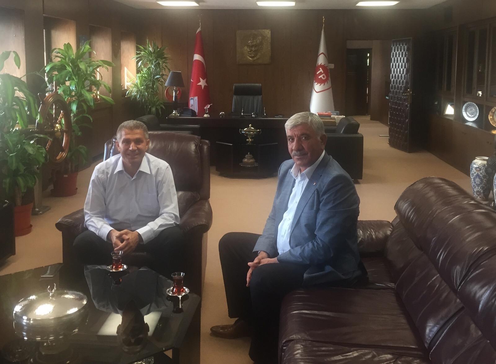 ATSO Başkanı Uslu, TPAO Genel Müdürü Besim Şişman'ı Ziyaret Etti
