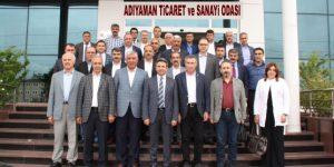 GRUP BAŞKANVEKİLİ AYDIN, ATSO'YU ZİYARET ETTİ