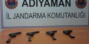 Kahta'da Jandarma'dan Kaçak Silah Operasyonu