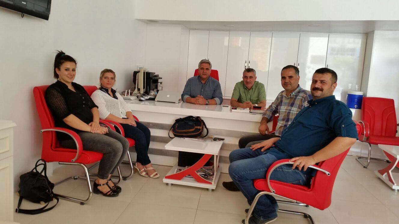 Adıyaman HDP İl Teşkilatı Ve Kahta İlçe Teşkilatı Kahta Gazeteciler Cemiyetini Ziyaret Etti.