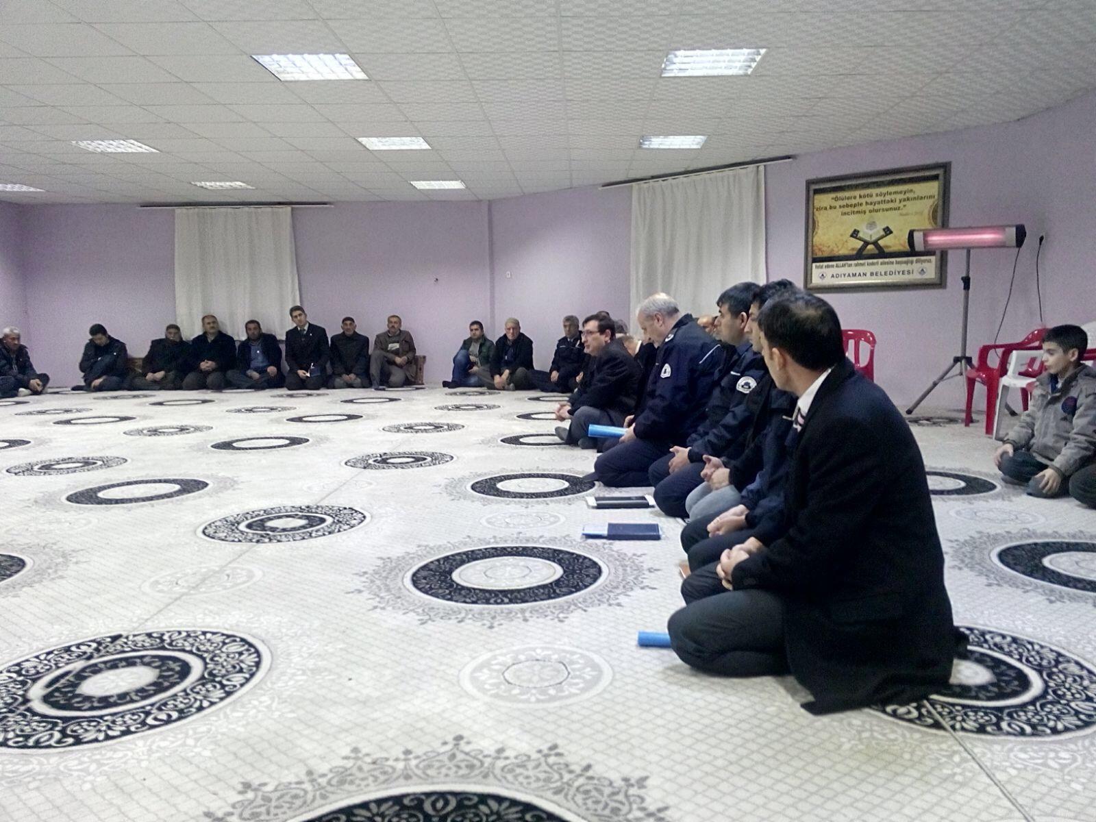 ADIYAMAN EMNİYET MÜDÜRLÜĞÜ 'HUZUR TOPLANTISI' YAPTI.