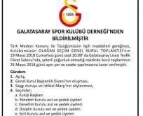 Galatasaray'da  Kongre Tarihi Belli Oldu