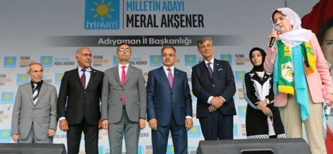 İYİ Parti Genel Başkanı Akşener, Adıyaman'da-Videolu Haber