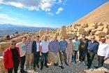 Ukrayna büyükelçisi beraberindeki heyetle Nemrut Dağını ziyaret etti