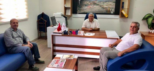 Kahta Gazeteciler Cemiyeti'nden  yeni Tapu Müdürüne hayırlı olsun ziyareti.