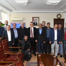 Adıyaman Gazeteciler Cemiyeti'nden Vali Aykut Pekmez'e Ziyaret
