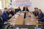 Ahmet Alagöz, İlçe Milli Eğitim Müdürleriye Toplantı Düzenledi