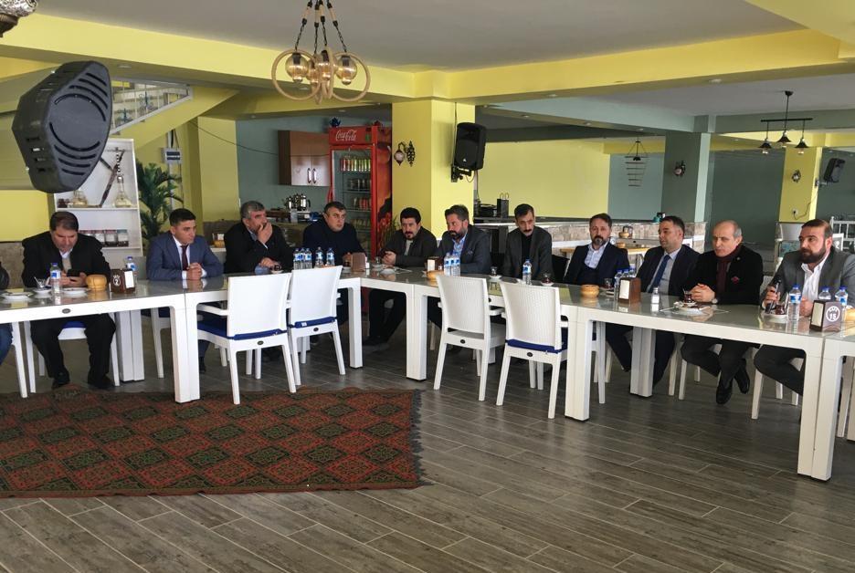 TÜSEKON Genel Başkanı Kahta'da İstişarelerde Bulundu