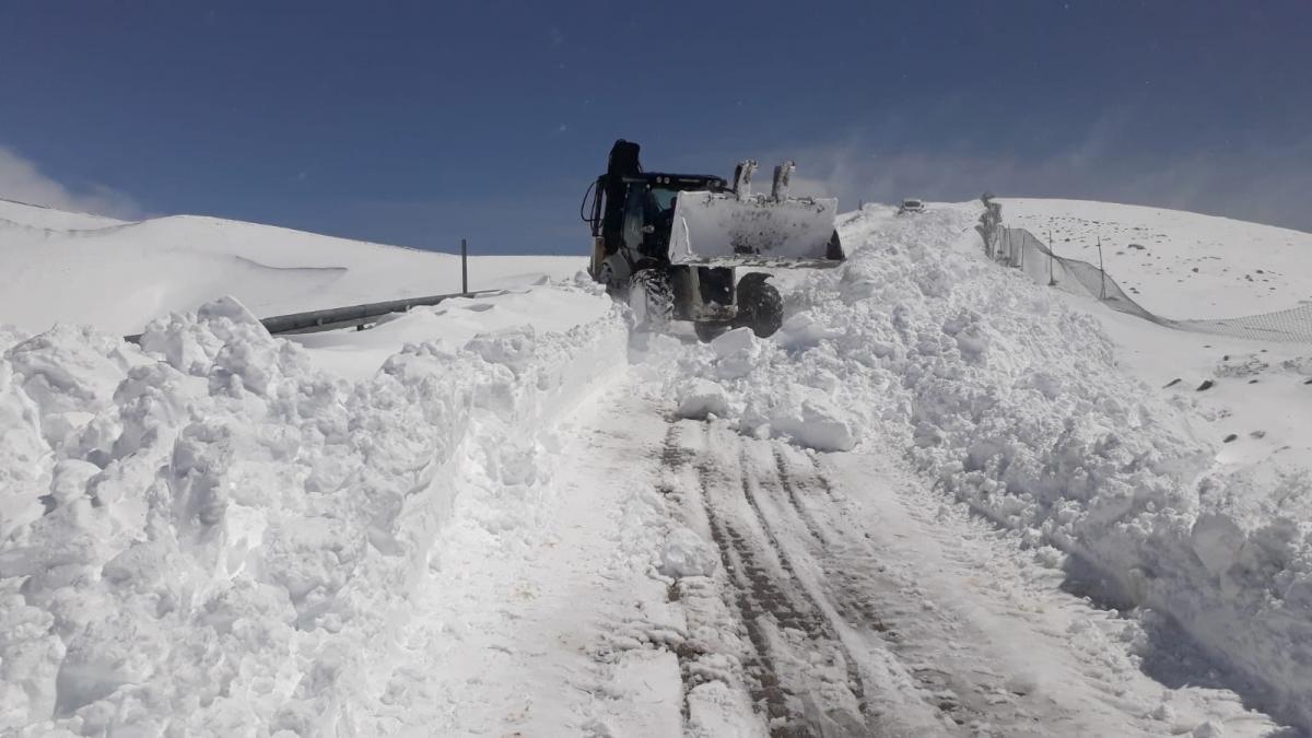 Nemrut Dağı Ulaşımına Kar Engeli