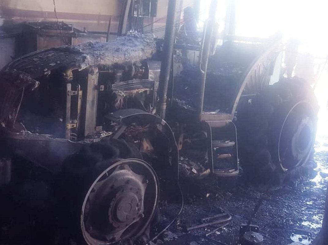 Kahta'da İşyeri Yangında Küle Döndü