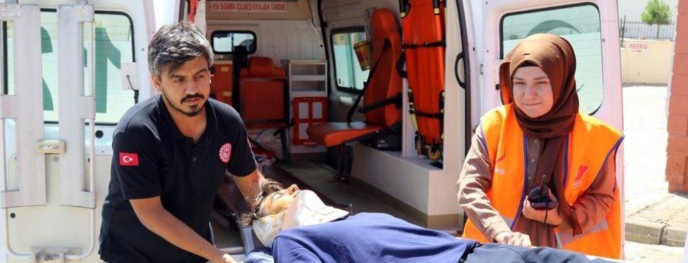 Gerger Devlet Hastanesi'nde HAP Tatbikatı Yapıldı