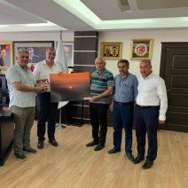 Kahta Gazeteciler Cemiyeti Başkan Turanlı'yı ziyaret etti.