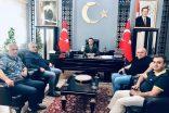 Kahta Gazeteciler Cemiyetinden Kahta'ya atanan Kaymakam Doğan'a ziyaret