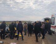 Kahta Menzil Yakınlarında Trafik Kazası