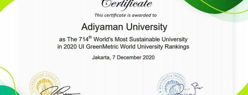 Adıyaman Üniversitesinin Başarısı Tescillendi