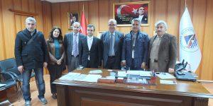 Kahta Gazeteciler Cemiyeti, Adıyaman Belediye Başkanı Kutlu'yu Ziyaret Etti