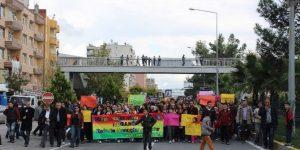 Adıyaman'da Kobani'ye Destek Yürüyüşü
