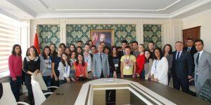 Avrupalı Gençlerden Vali Mahmut Demirtaş'a Ziyaret