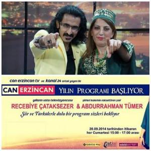 Çataksezer ve Tümer İkilisi Can Erzincan&Kanal 24 Ekranlarında