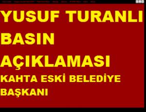 Kahta Eski Belediye Başkanı Turanlı'dan Basın Açıklaması