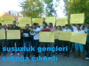 Kahta'lı Gençler Su Sorununu Protesto Etti